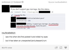 When this person had a brilliant idea on Facebook. | 21 Times LGBT People Had The Perfect Comeback