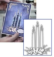 MEMORY BOX Christmas SHINING CANDLES steel craft die #98937