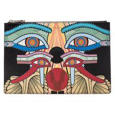 Givenchy Impression Moyenne Yeux Dans Egyptien Avstract, Jaune, Orange, Noir, Rouge