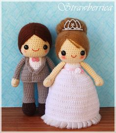 PDF Crochet Pattern - Bride and Groom