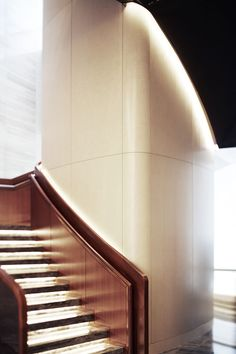 featurette Masters lead 10 most characteristic Park Hyatt hotel design Cove Lighting, Linear Lighting, Stair Steps, Stair Railing, Stair Elevator, Stairs To Heaven, Stair Lift, Yabu Pushelberg, Interior Staircase