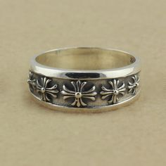 2aaee981981 Chrome Hearts Signature Crosses 925 Silver Ring Discount  925 Silver Rings   -  119.00