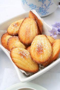 madeleines miel,vanille d'orange come un nuage