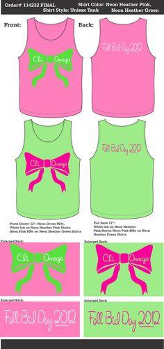 I ADORE THESE TANKS!!! GET ON MY BODY!! Chi Omega Fall Bid Day  http://www.greekt-shirtsthatrock.com/