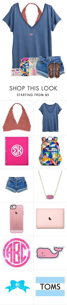 """""""Challenge day 3: school outfit"""" by arieannahicks on Polyvore featuring Youmita, H&M, Vera Bradley, Kendra Scott, Birkenstock, Vineyard Vines, Southern Proper, Patagonia and TOMS"""
