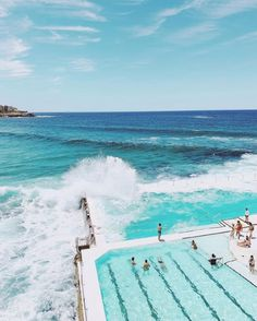 Fly nonstop from to and swim where the pool meets the ocean. The famous Bondi Beach is known for its iconic beachside pool, open… Perth, Brisbane, Melbourne, Visit Australia, Australia Travel, Sydney Australia, Istanbul, Scuba Diving Australia, Dubai