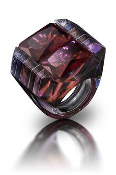 Layered Acrylic Jewelry | Jennifer Merchant Design - Image by Victor Tolansky