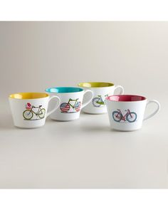 This mug is perfect for sipping on lazy summer days! Get it here: http://www.bhg.com/shop/world-market-bicycle-mugs-set-of-4-p51b2d3e6e4b0b8328a916e5b.html?mz=a