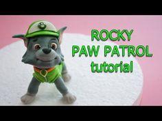 how to make rocky paw patrol cake topper fondant - tutorial cane in pasta di…