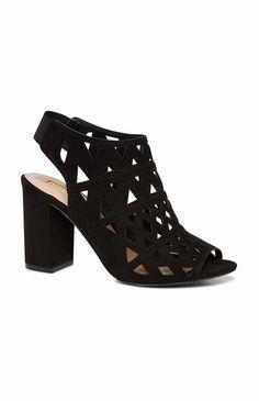 Primark - Zwarte opengewerkte schoen met hak