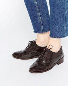 Park Lane - Chaussures richelieu simples en cuir Chaussure Richelieu,  Talons Plats, Cuir, 3261f3e2a55