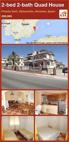 Townhouse for Sale in Villamartin, Alicante (Costa Blanca), Spain with 2 bedrooms, 2 bathrooms - A Spanish Life Murcia, Valencia, Quad, Portugal, Alicante Spain, Side Garden, Double Bedroom, Townhouse, Terrace