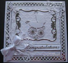 Memory Box Die Card Ideas   pamscrafts: Baby carridge
