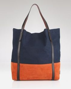 #tote #bag #orange #navy #pretty