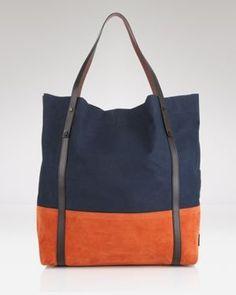 #tote #bag #orange #navy #pretty