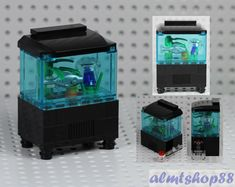 Details about LEGO - Aquarium Fishtank w/ Jellyfish Fish Food Minifigure Animal Ocean Water - Lego creations -