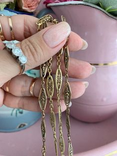 Chain Links, French Antiques, Filigree, Trending Outfits, Unique Jewelry, Handmade Gifts, Gold, Vintage, Etsy