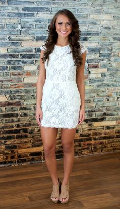 The Pink Lily Boutique - Forever Divine Lace Dress, $44.00 (http://thepinklilyboutique.com/forever-divine-lace-dress/)
