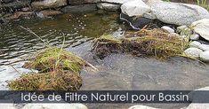 Filtre Bassin - Filtrer l'eau d'un bassin - Contrôle des algues de bassin - Éliminer les algues - Cascade filtrante pour bassin. INstructions: http://www.jardinage-quebec.com/guide/construire-cascade-de-bassin/cascade-de-jardin-5.html