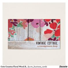 Shop Cute Country Floral Wood Art Consignment Boutique Business Card created by sm_business_cards. Personalize it with photos & text or purchase as is! Cheap Business Cards, Wood Business Cards, Business Card Design, Boutique, Cute N Country, Vintage Country, Handmade Art, Wood Art, Floral