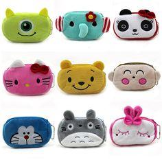 Women Plush Coin Purse Cute Totoro Hello Kitty Wallets Storage Bags Monederos Card Bags Bolsas Carteira Feminina Coin Bag