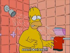 How you feel when you've got sunburn and you take a shower.... http://gph.is/1VHT8q7?tc=1 via @giphy #hotestdayoftheyear #simpsons