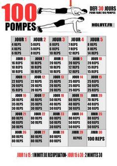 Ce défi de 30 jours vous propose une progression pour vous aider à réaliser 100 pompes en une seule série à la fin du programme !
