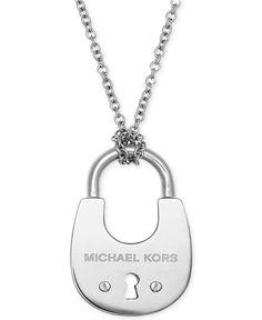 Michael Kors Padlock Pendant Necklace - Jewelry & Watches - Macy's