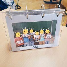 On - There are of course many possibilities. I chose my birthday calendar. Kindergarten Bulletin Boards, Kindergarten Assessment, Kindergarten Anchor Charts, Kindergarten Activities, Preschool, Diy For Kids, Crafts For Kids, Birthday Display, Birthday Calendar
