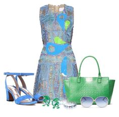 """""""spring"""" by natalie-zyuziha ❤ liked on Polyvore featuring Peter Pilotto, Tabitha Simmons, Kate Spade, Rosie Assoulin and Victoria Beckham"""