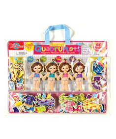 Take a look at this Teeny Tiny Quadruplets Magnetic Dress-Up Set on zulily today!