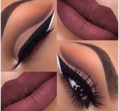 This is more of a formal or dressy type makeup. If you have on something dark.