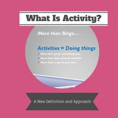 What is activity in dementia care?  Get the free video today!