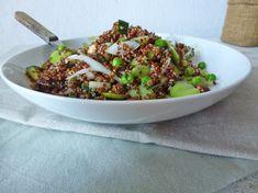 Salade de quinoa rouge aux f