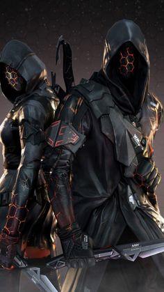 49 Ideas For Sci Fi Concept Art Cyberpunk Ideas Male Character, Fantasy Character Design, Character Inspiration, Dark Fantasy Art, Fantasy Armor, Sci Fi Fantasy, Robot Concept Art, Armor Concept, Armadura Ninja
