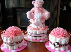 Sweet diaper cake for baby girl :)