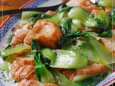 あぶら麩とミニチンゲン菜の中華風炒め煮の画像