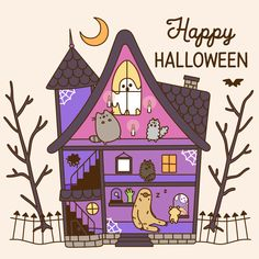 Pusheen the Cat Photo: Happy Halloween Chat Pusheen, Pusheen Love, Kawaii Drawings, Cute Drawings, Pusheen Stormy, Kawaii 365, Nyan Cat, Gif Animé, Cute Halloween
