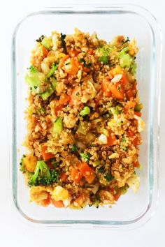 15-Minute Quinoa Fried Rice Recipe - Her Highness, Hungry Me Easy Meal Prep, Healthy Meal Prep, Easy Healthy Recipes, Vegetarian Recipes, Easy Meals, Healthy Eating, Vegetarian Stew, Healthy Food Blogs, Healthy Cooking