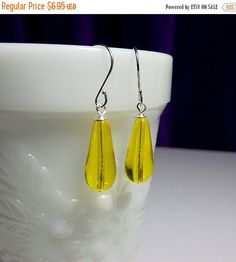 SALE thru 12-16 Sunshine Yellow Glass by DelaneyJeanJewelry