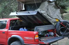 Willman's 2001 Tacoma - Bed storage with hinged roof top tent - RTT
