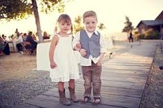 Cowboy boots for the flower girls