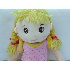 "Cuddly 16"" Rag Doll - Blonde Hair European Girl European Girls, Rag Dolls, Stuffed Animals, Blonde Hair, Hello Kitty, Crochet Hats, Fabric Dolls, Knitting Hats, Cloth Art Dolls"