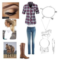 """Trail ride with my favorite horse"" by jenna610-1 ❤ liked on Polyvore"