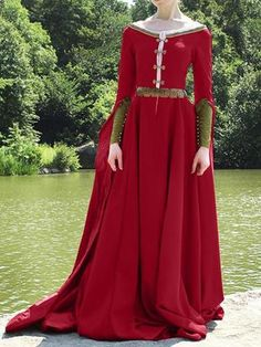 medieval Vintage Cotton Dresses Chart Size Bust cm inch S Medieval Dress, Medieval Costume, Medieval Fashion, Medieval Clothing, Gypsy Clothing, Historical Costume, Historical Clothing, Historical Photos, Costume Roi