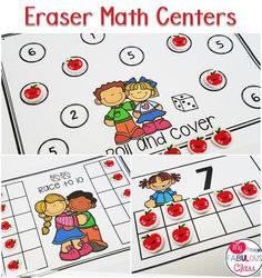 Eraser Math Centers can be used all year! Look at these adorable Target Erasers!