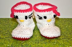 Hello Kitty Crochet Baby Boots