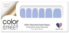Color Street Aspen Sky: 100% real nail polish strips. 16 long lasting double ended strips. Nail Polish Strips, Color Street, Aspen, Sky, Amazon, Nails, How To Make, Amazon Warriors, Heaven