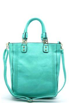 Green Handbag Purse Bags Handmade Handbags Mint Tote Bag Zipper Pocket