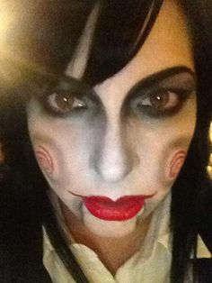 Jig SAW halloween makeup